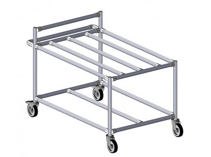 Desserte modulaire et ergonomique pour le transport de charges d'un poste à un autre - LEAN manufacturing de SODEFI