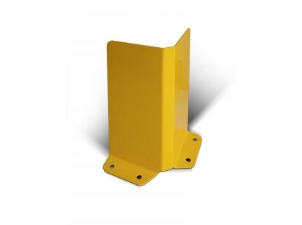 METALCHOC - sabot métallique d'angle pour la protection des rayonnages lourds et racks à palettes. Sabot en acier personnalisable, Made in France, SODEFI