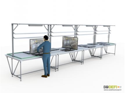 Poste de travail LEAN Manufacturing - SODEFI