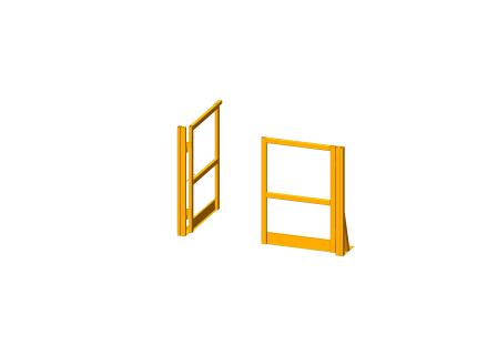 Portillon pour plateforme/mezzanine - 1350 mm