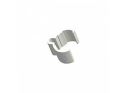 Clip pour support de protection feuille A4 pour barre aluminium diamètre 28 mm