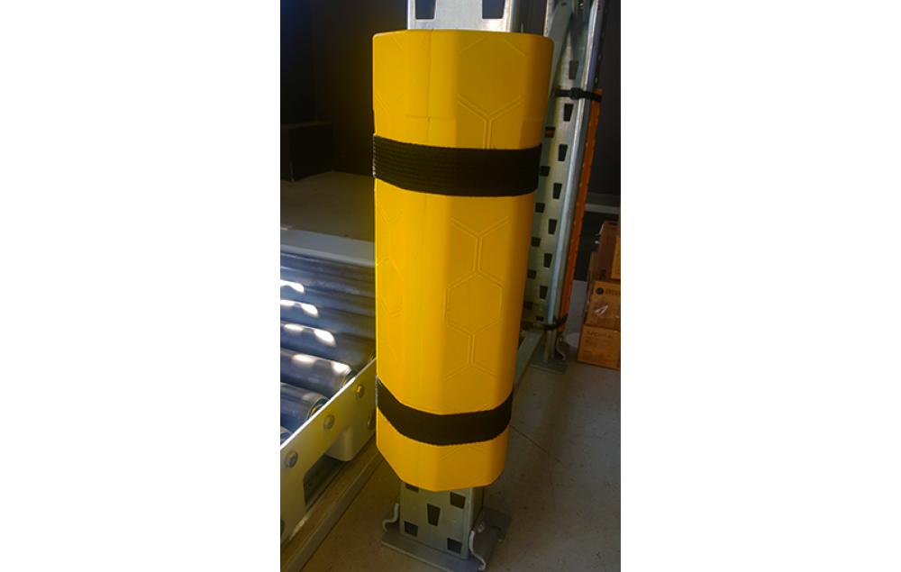 ABSORBCHOC 2.0 de SODEFI - mousse amortissante avec plaque interne anti-perforation pour la protection des palettiers, rayonnages et rack à palette, Made in France, personnalisation possible