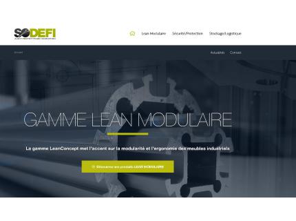 Page d'accueil design pour le lancement de notre nouveau site internet
