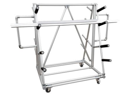Cantilever ergonomique et modulaire pour le stockage de charges longues et hors gabarit. Structure évolutive et personnalisable LEAN CONCEPT de SODEFI