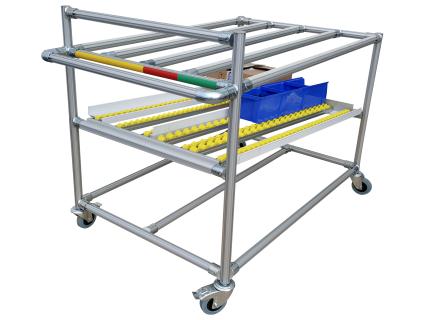 Desserte modulaire, ergonomique et robuste avec niveau dynamique de convoyage pour le picking de cartons ou bacs. Elle est personnalisable selon votre besoin grâce à notre gamme LEANCONCEPT par SODEFI