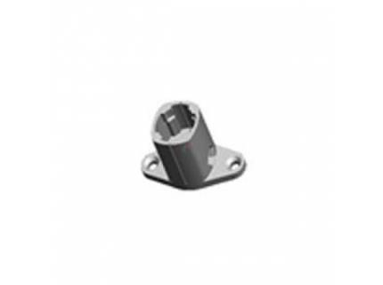 Connecteur en T pour barre aluminium diamètre 28 mm