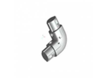 Coude 90° intérieur pour barre aluminium diamètre 28 mm
