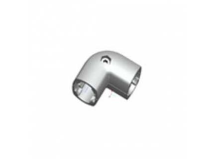 Coude 90° extérieur pour barre aluminium diamètre 28 mm
