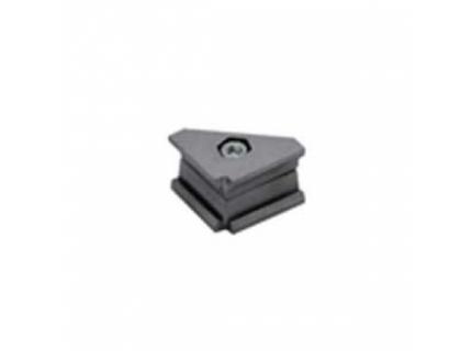 Connecteur angle 90° pour barre aluminium diamètre 28 mm
