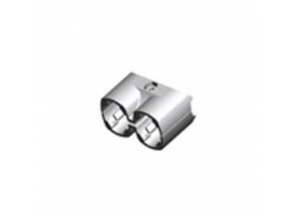 Multi connecteur pour barre aluminium double diamètre 28 mm