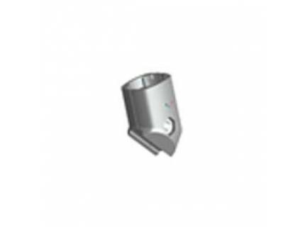 Connecteur 45° extérieur pour barre aluminium diamètre 28 mm