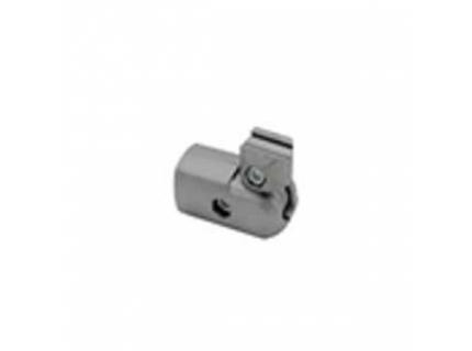 Connecteur angle variable 90° extérieur pour barre aluminium diamètre 28 mm