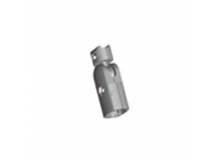 Connecteur angle variable 180° extérieur pour barre aluminium diamètre 28 mm