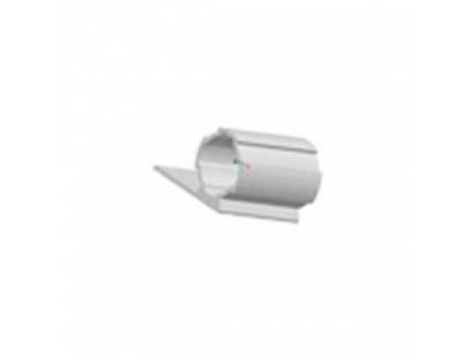 Profilé rond avec rebord simple ép 1,7 mm diamètre 28 mm – longueur 4 ml