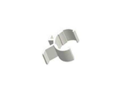 Clip pour support étiquette pour barre aluminium diamètre 28 mm